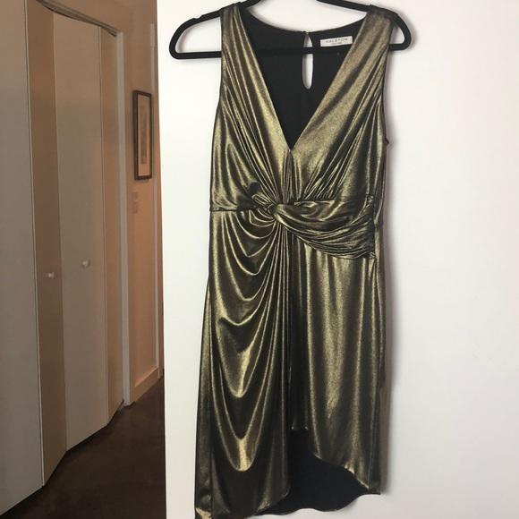 a0e44bf118 Halston Heritage Dresses   Skirts - Halston Heritage metallic gold dress